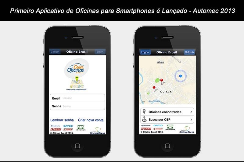 Primeiro aplicativo de oficinas para smartphones