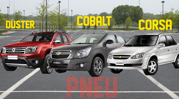Pneus para os carros Renault Duster, Classic e Cobalt