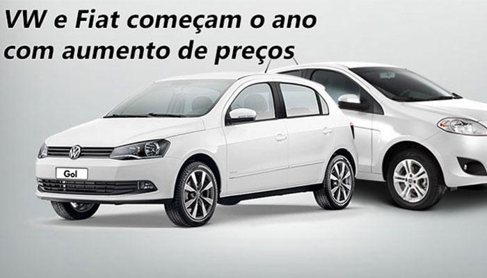Aumento de Preço Volkswagen e Fiat